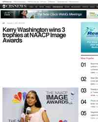 Kerry Washington wins trophies at NAACP Image: CBS News